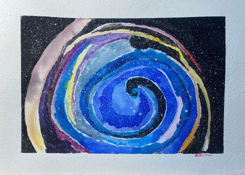 A somewhat distant spiral galaxy